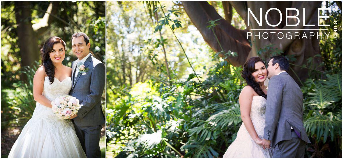 Botanical Gardens wedding portraits