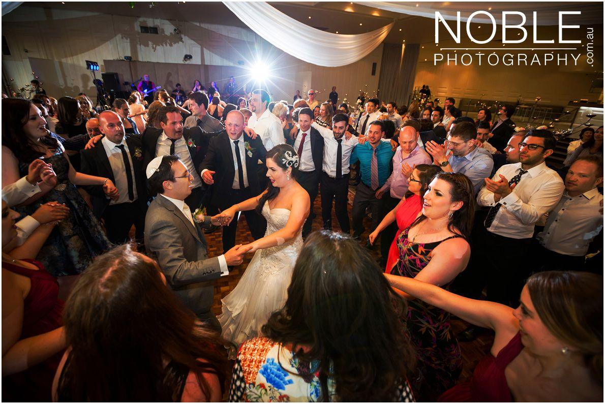 Dancing at Jewish Wedding Reception