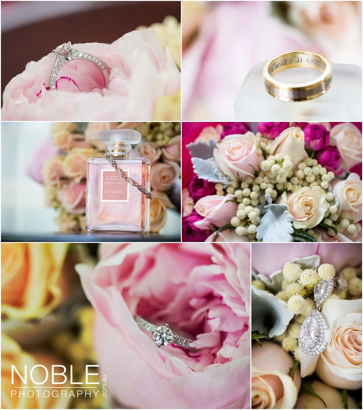 Bridal Details with rings